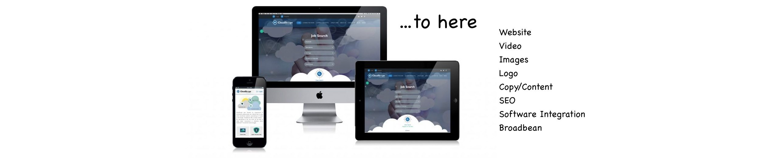 Recruitment website design for www.cloud-scope.co.uk using our R-WEB Recruiter+ platform and a Semi-Bespoke Design