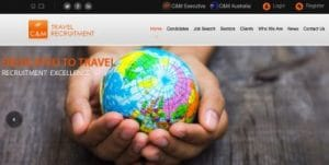 Travel recruitment website