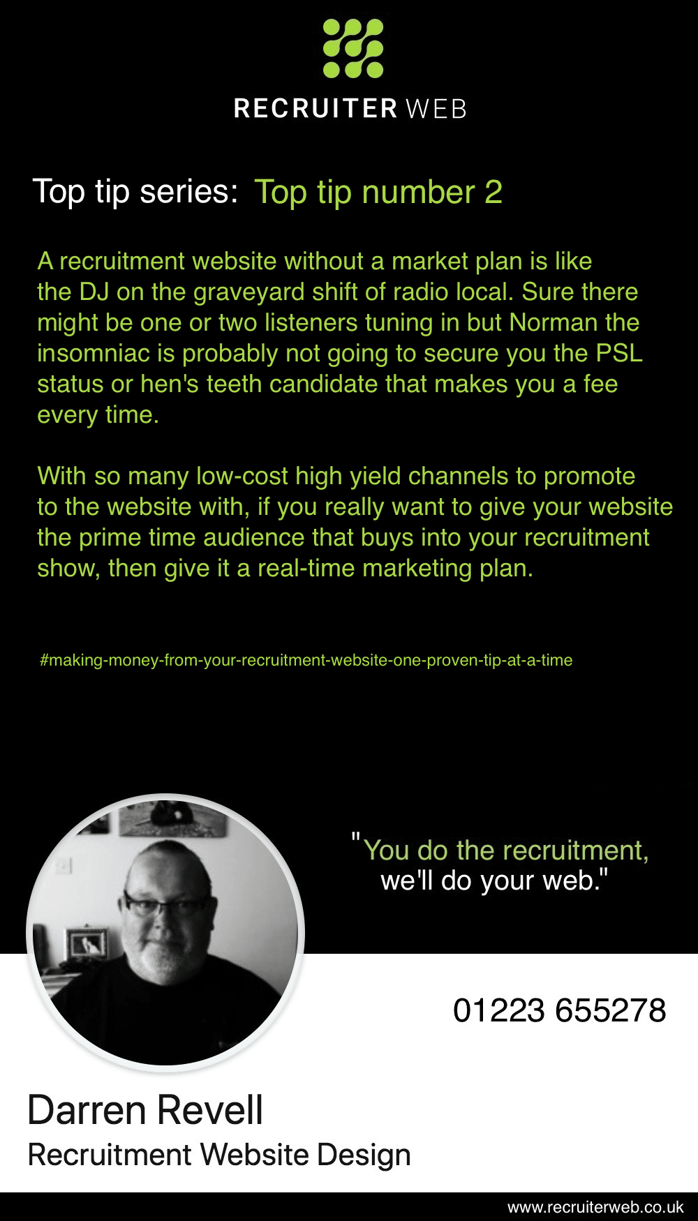 Recruitment website design tip