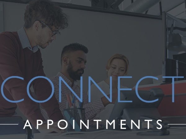 Recruitment website design for Connect Appointments