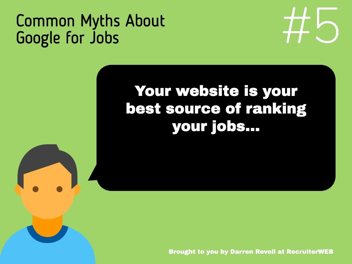 Tip 5 for google for jobs advice