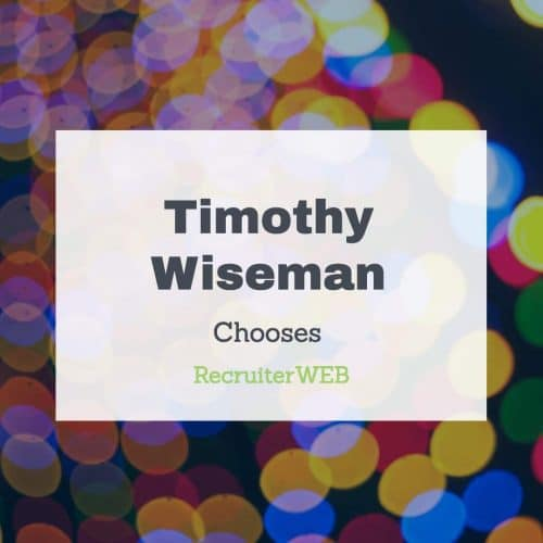 Recruitment web design for Timothy Wiseman