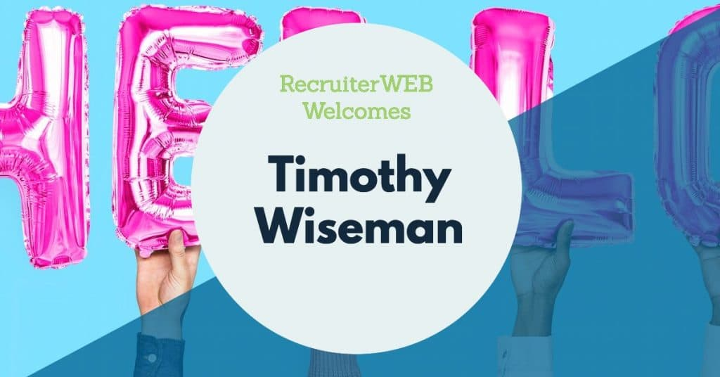 Recruitment website for Timothy Wiseman