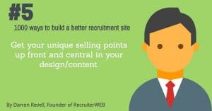 recruitment website design tip number 5