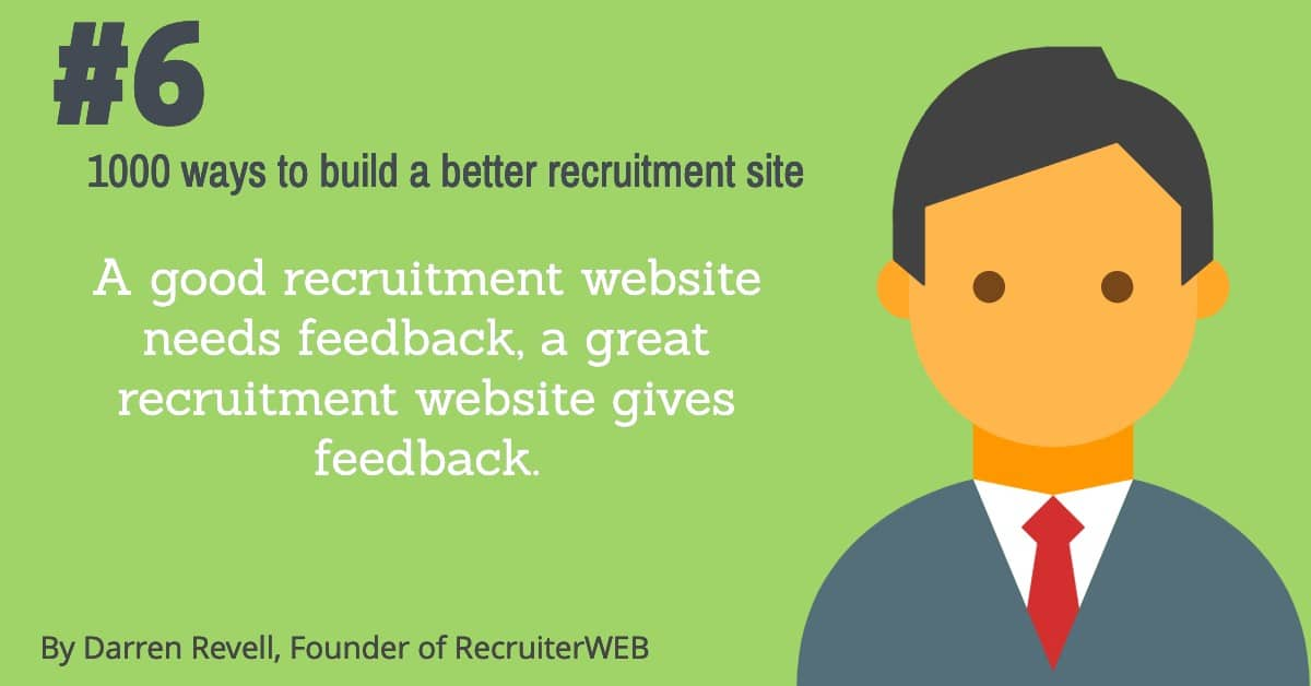 Recruitment website design tip number 7