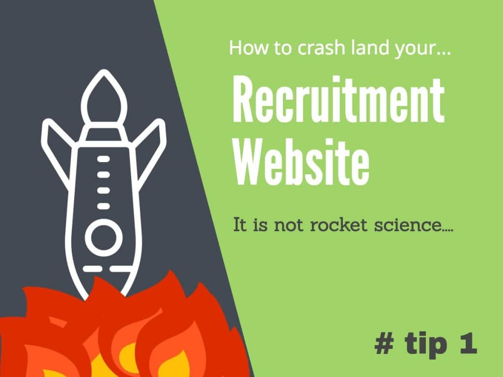 Common mistakes made on recruitment websites, avoid making the same mistake on your own site.