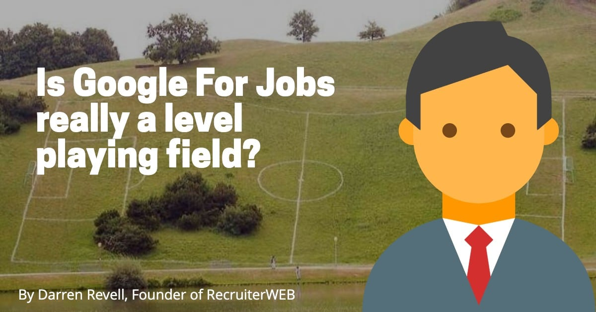 Is Google for jobs a level paying field for all?