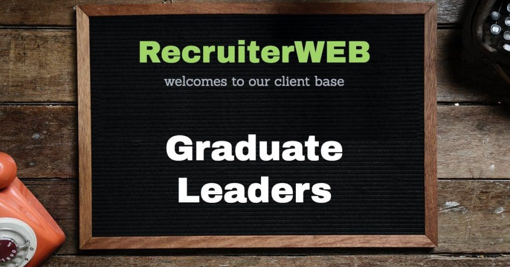 recrutimenrt web design for graduate leaders